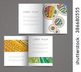 set of vector design templates. ... | Shutterstock .eps vector #386680555