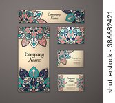 templates set. business cards ... | Shutterstock .eps vector #386682421