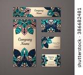 templates set. business cards ... | Shutterstock .eps vector #386682481
