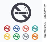 no smoking sign icon. quit... | Shutterstock . vector #386689429