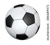 soccer ball isolated on white... | Shutterstock . vector #386689471