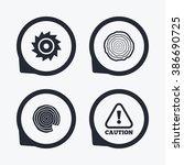 wood and saw circular wheel...   Shutterstock . vector #386690725