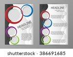 vector flyer template design.... | Shutterstock .eps vector #386691685