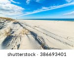 beautiful beach sea landscape.... | Shutterstock . vector #386693401