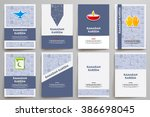 corporate identity vector... | Shutterstock .eps vector #386698045