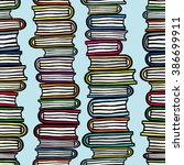 seamless pattern with stacks of ... | Shutterstock . vector #386699911