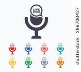 Microphone Icon. Speaker Symbol....