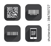 bar and qr code icons. scan... | Shutterstock . vector #386700727