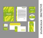 corporate identity template... | Shutterstock .eps vector #386700745