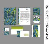 corporate identity template... | Shutterstock .eps vector #386700751
