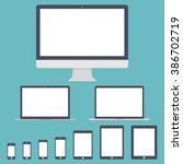 mockup gadget and device icons... | Shutterstock .eps vector #386702719