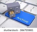 file cabinet on computer... | Shutterstock . vector #386705881