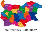 map of administrative divisions ... | Shutterstock .eps vector #38670649