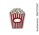 doodle icon. popcorn. vector... | Shutterstock .eps vector #386707069