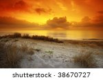 sand hill and beach in corsica | Shutterstock . vector #38670727