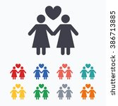 couple sign icon. woman love... | Shutterstock . vector #386713885