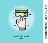 card payment  flat design thin... | Shutterstock .eps vector #386717179