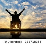 concept of disability and... | Shutterstock . vector #386718355