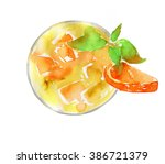 hand drawn isolated cocktail on ... | Shutterstock . vector #386721379