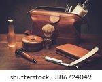 gentleman's accessories on a... | Shutterstock . vector #386724049