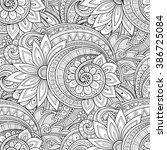 vector seamless monochrome... | Shutterstock .eps vector #386725084