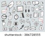 hand drawn cartoon business set | Shutterstock .eps vector #386728555