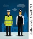 british vector policeman on the ... | Shutterstock .eps vector #386733721