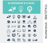 database   cloud icons  | Shutterstock .eps vector #386737411