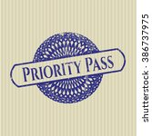 priority pass rubber grunge seal | Shutterstock .eps vector #386737975