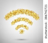vector wifi icon. wifi icon... | Shutterstock .eps vector #386742721