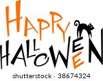 happy halloween   Shutterstock .eps vector #38674324