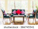 pillow sofa and chair... | Shutterstock . vector #386745541