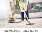 housewife from cleaning service ... | Shutterstock . vector #386746354