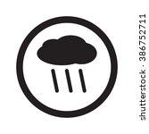 Flat Black Rain Web Icon In...