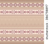 vintage pink red seamless... | Shutterstock .eps vector #386758897
