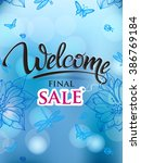welcome signs final sale.... | Shutterstock .eps vector #386769184