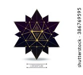 sacred geometry forms  shapes... | Shutterstock .eps vector #386769595