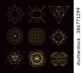sacred geometry forms  shapes... | Shutterstock .eps vector #386771299