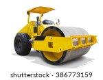 image of a modern road roller... | Shutterstock . vector #386773159