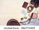 casual clothing and accessories ... | Shutterstock . vector #386774305