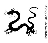 chinese dragon silhouette... | Shutterstock .eps vector #386778751