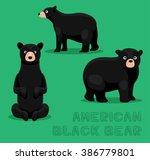 bear american black bear... | Shutterstock .eps vector #386779801