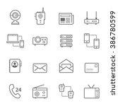 lines icon set   communication... | Shutterstock .eps vector #386780599