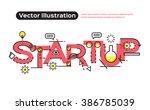 flat line design  concepts of... | Shutterstock .eps vector #386785039