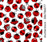 Bright Seamless Ladybird...