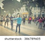 blur background group of people ... | Shutterstock . vector #386789605