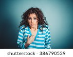 me  portrait of angry unhappy... | Shutterstock . vector #386790529