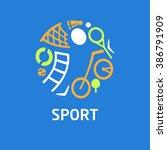 vector logo for children sports ... | Shutterstock .eps vector #386791909
