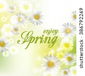 spring beautiful background... | Shutterstock .eps vector #386792269