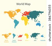 world map infographics. vector... | Shutterstock .eps vector #386796055